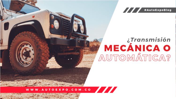 ¿Transmisión mecánica o automática? Autoexpo concesionario