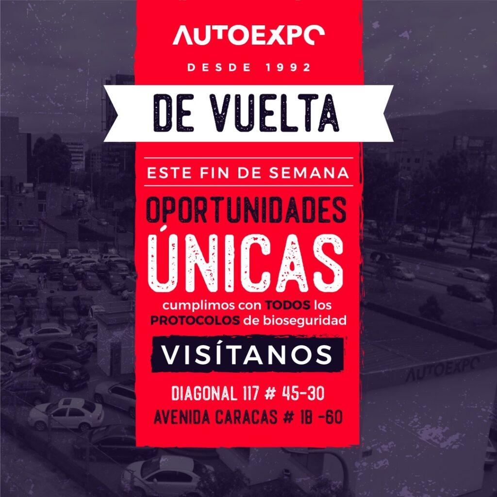 2. De Vuelta este Fin de Semana Autoexpo carros usados Bogotá